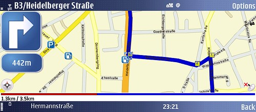 Nokia Maps on the E90