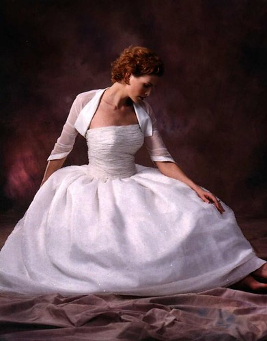 ball gown wedding dress with bolero