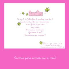 Convite por e-mail
