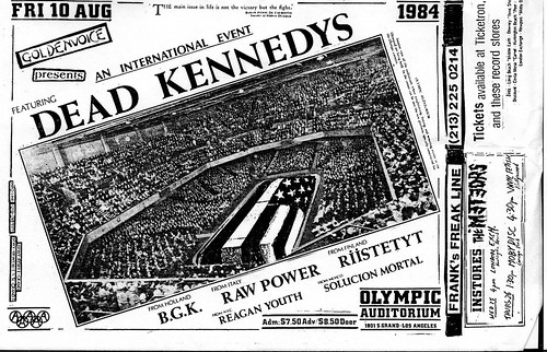 Flyer: Dead Kennedys 1984 at Olympic Auditorium