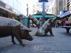 Pigs at Rundle Mall (sobriquet.net) Tags: city statue australia pigs adelaide sa southaustralia rundlemall pc5000 auspctagged