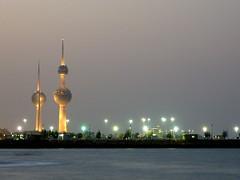 Kuwait Towers at night (Nele en Jan) Tags: towers kuwait kuweit kuwaittowers