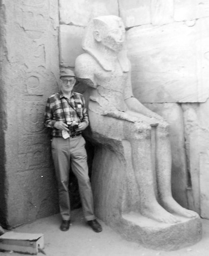 Dad with Rameses II in the 80s