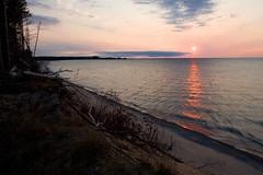 Lake Superior Sunset (James Marvin Phelps) Tags: park sunset lake photography rocks michigan pictured superior grand national marais jmp mandj98 diamondclassphotographer flickrdiamond