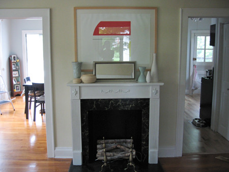 fireplace after white