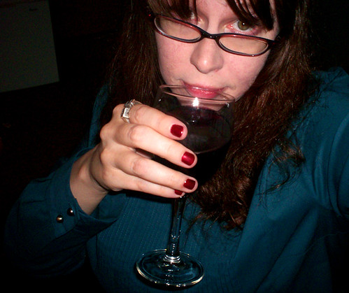 Manicure and wine, bitches!