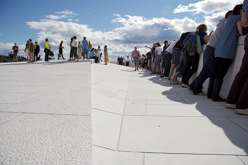 On top of the new opera house