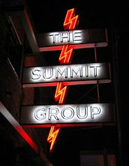 the summit group (pbo31) Tags: city trip travel red summer urban usa black west color sign america dark utah words neon patterns capital letters style august roadtrip crosscountry saltlakecity saltlake western summit characters neonsign traveling script shape 2007 olympiccity northutah saltlakecounty