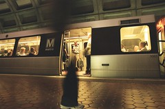Leg (Michael Ronquillo) Tags: film subway dc still metro availablelight leg m motionblur commuting nophotoshop nocrop dcmetro metrostation foggybottom phantomlimb june2007 bymichaelronquillo michaelronquillophotography