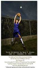 Title IX Exhibit at CPUC building (SFMONA) Tags: woman sports girl vintage baseball catch outfield titleix bofont playinginadress