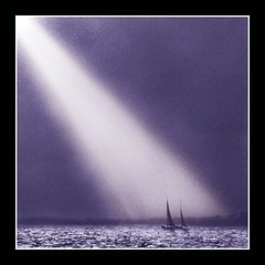 Ultra-Violet Light!! (adrians_art) Tags: light sea bw film water monochrome reflections dark geotagged boats mono bravo shadows violet silhouettes scanned sunrays soe 400asa negs themoulinrouge geotags supershot outstandingshots abigfave anawesomeshot superaplus aplusphoto megashot bratanesque colourartaward thegardenofzen thegoldendreams