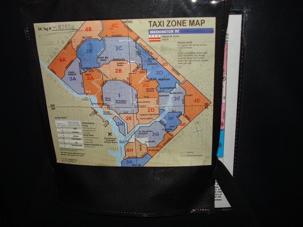 D.C.'s current taxi zone map
