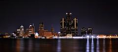 Detroit at Night (Surrealplaces) Tags: reflection skyline night cityscape detroit renaissancecentre