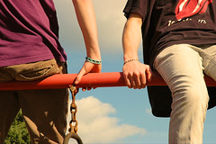 temptations (ally_tippett) Tags: boy playground nikon hand pants legs d70 finger bracelet