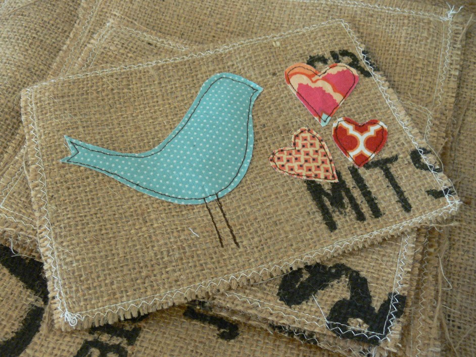 Jenny: More Burlap Art
