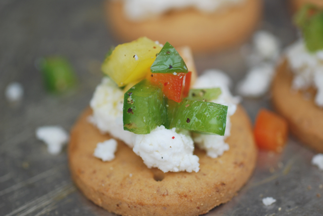 feta and peppers