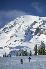 Mount Rainier cross country skiers (Jim Corwin's PhotoStream) Tags: travel trees vacation mist mountain lake inspiration tourism nature water beautiful beauty vertical misty fog forest sunrise landscape outdoors photography volcano countryside pond quiet cross natural exploring country sightseeing foggy earlymorning scenic peaceful tourists glacier snowcapped adventure explore serenity mountrainier evergreens mountrainiernationalpark pacificnorthwest reflectionlake northamerica geology wilderness washingtonstate inspire majestic volcanic tranquil publiclands landforms naturalworld mothernature inspiring skiers cascaderange tranquilscene evergreentrees adventurous getaways cascademountainrange traveldestinations locallandmark beautyinnature nationallandmark physicalgeography mountrainiernationalforest localattractions