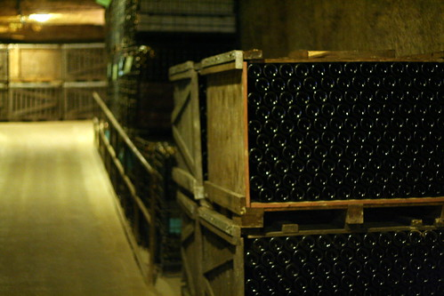 Thousands of wine bottles