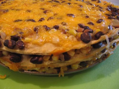 Lisa Cooks: Tortilla and Black Bean Pie