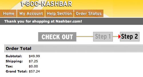 Nashbar Shipping Charges