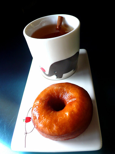 cider glazed honey brioche doughnut