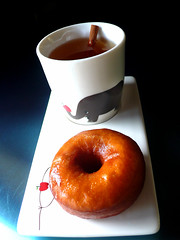 cider glazed honey brioche doughnut - by chotda