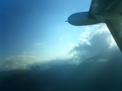 Clouds off the wing