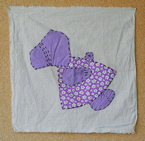 thrifted quilt square