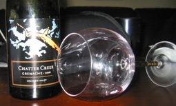 Bottle of Chatter Creek Grenache