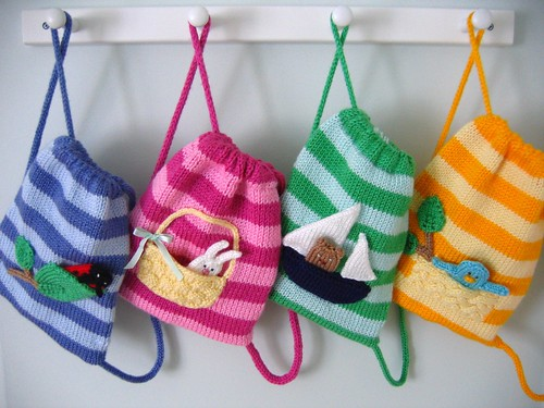 All 4 Buddy Bags by Anny Purls.