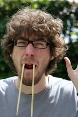 El Vampiro (ukaaa) Tags: me myself vampire teeth chopsticks uka ukaaa