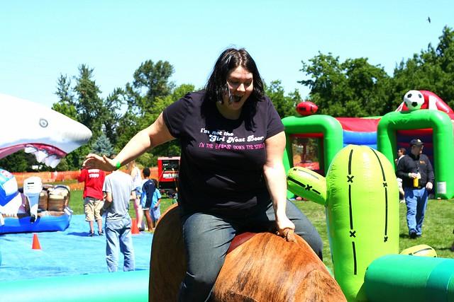 Jen Rides the Bull