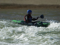 nearly at the end (Kazz in Oz) Tags: white water kayaking garry