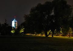 :) (silkii) Tags: park light night germany nacht leipzig universitt uniriese