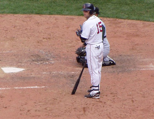 Pedroia at the plate by you.