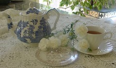 Come to Tea? ( artkat0116  away) Tags: flowers party cup beautiful tea lace explore teacup teaparty lue