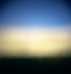 the imperfect gradient (ziz) Tags: sky abstract window glass fence holga fuji screen hedge gradient diffused pickets 120n infocus imperfect butnot pro160c phlow:emote=smile unsensored2007
