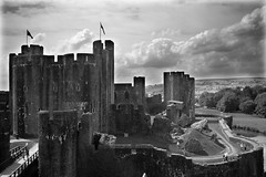 Caerphilly Castle B&W (M.R.7) Tags: explore wfc caerphilly mhr pentaxk100d welshflickrcymru coolestphotographers mikerees