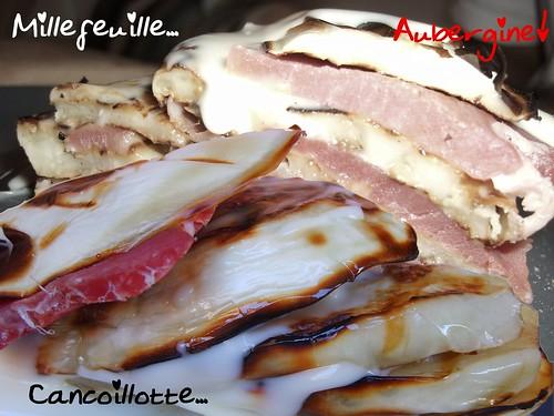 Montage Millefeuille Cancoillotte Jambon de Sanglier