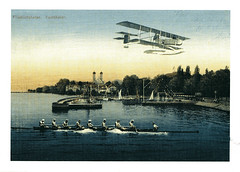 Friedrichshafen postcard (Jassy-50) Tags: germany airplane postcard transportation bodensee friedrichshafen oldprint lakeconstance vintagereprint