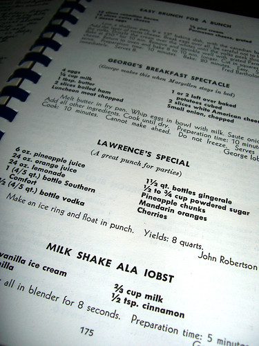 Vintage cookbook page
