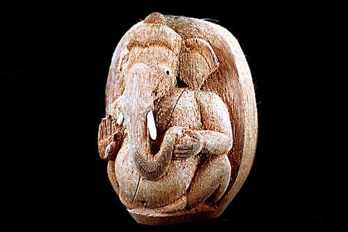 Coconut Husk Ganesha handicraft, Coconut handicraft, handicraft design