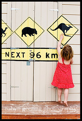 Aussie Girl (Robyn Geering Photography) Tags: portrait colour 20d girl kids canon children kid toddler child camel kangaroo dots wombat superhearts sywbppruleofthirds