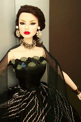 Festive Decadence Agnes (napudollworld) Tags: black fashion festive james ooak von ken barbie harley tuxedo bond agnes gown davidson weiss royalty decadence pivotal baronness