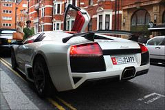 Murcielago LP640 (Alex Penfold) Tags: road street white london cars alex sports car canon photography eos photo cool italian image awesome wing picture fast super spot exotic photograph arab lp pearl tuning lamborghini supercar spotting exotica 2010   murcielago v12 spolier penfold 640 tuned         lp640 450d     hpyer