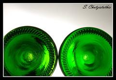 Change your view angle! (Stathis Chatzistathis) Tags: stilllife white colour green circle bottle nikon colours bottles drink circles sb600 greece nikkor glas clour stathis 1685 chatzistathis