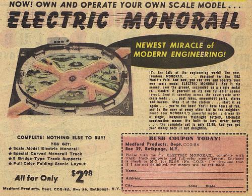 Vintage Ad #1,232: Monorail, Monorail, MONORAIL!