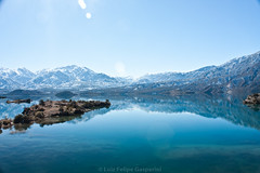 lago andes (lgasparini) Tags: trip blue friends lake nature argentina ruta landscape natureza mendoza andes viagem nacional ferias potofgold coth mywinners rn7