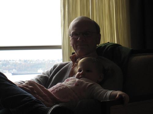 Granddad snuggles