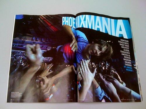 Phoenix in Rolling Stone